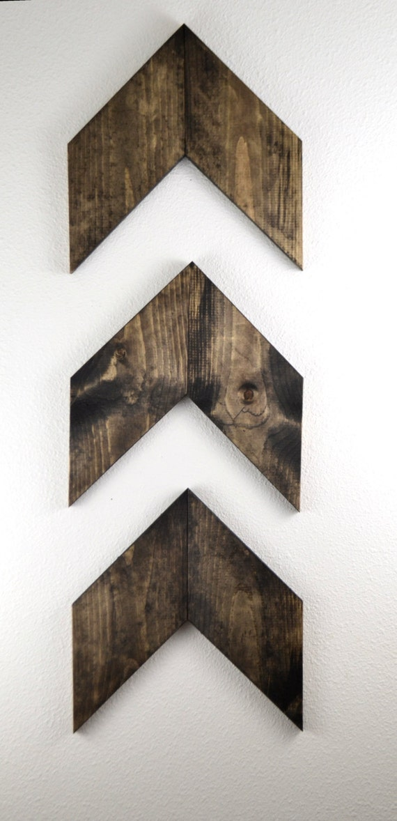 Medium rustic wood arrows set of 3 unique gift gallery wall - Modern rustic wall decor ...