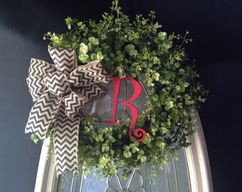 Personalized Boxwood Wreath wedding gift hostess gift housewarming gift special gift