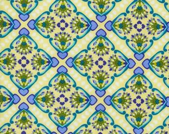 RJR Fabrics Mary McGuire Grace 1705 02 Yellow Geometric Yardage