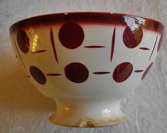 """Authentic antique large """"café au lait""""   French bowl  Art Déco Circa 1930"""