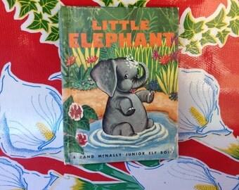 Vintage Rand McNally Junior Elf children's book- Little Elephant