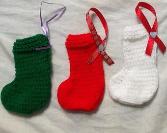 Three Stockings, Three Tree Stockings, 3 Tree Stockings, 3 Christmas Stockings, Christmas Decoration, Christmas Stockings, Pack of Stockings