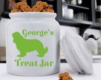 Personalized Classic Silhouette Dog Treat Jar - Man's Best Friend Treat Jar - Pet Gifts - GC1230