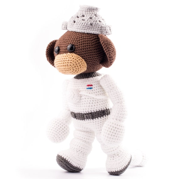 Amigurumi Monkey Etsy : Amigurumi pattern Space Monkey by Dendennis on Etsy