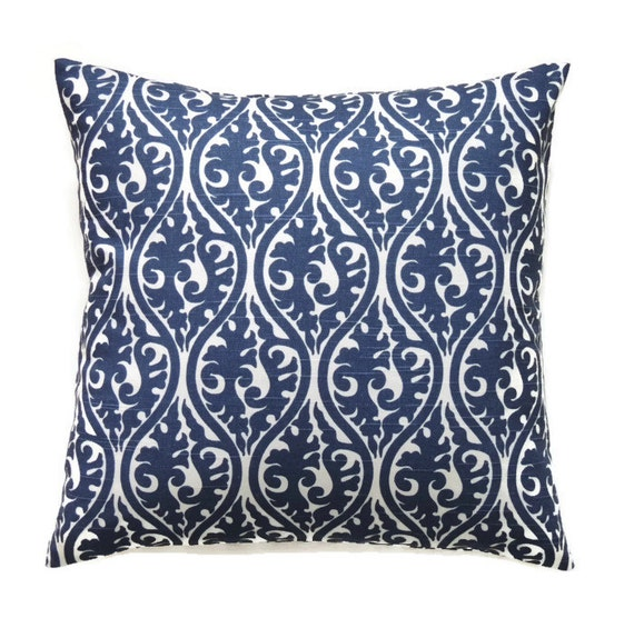 Decorative Pillow Covers 16x16 : Navy Blue Pillow 16x16 Pillow Cover Decorative Throw Pillows