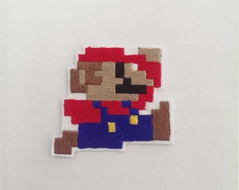 8 Bit Mario OR Luigi Embroidery Patch