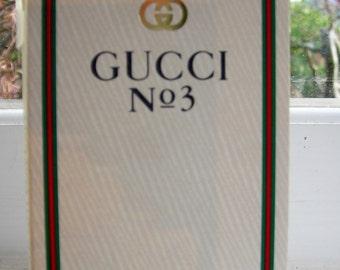 Gucci No. 3 parfum carded sample vial.  Vintage perfume sample.