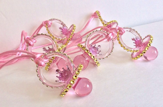 princess pacifiers baby shower favors little princess baby shower
