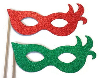 Photo Booth Props- Christmas Themed Photo Booth- Photobooth Glitter Props