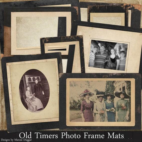 Antique Styled Photo Mattes | Digital Frames | Photograph Frames | Black Vintage