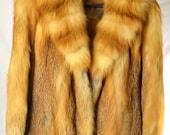 Lord And Taylor Fox Fur Coat Silk Lining Original 3500 USD Receipt Vintage FREE SHIPPING