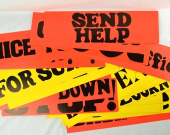 Vintage Freeway Cue Cards DeWaters Industries FREE SHIPPING