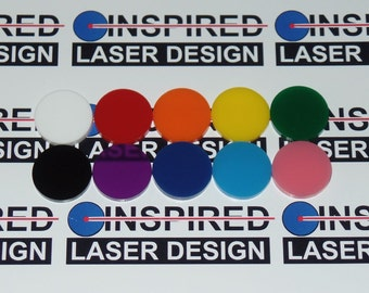 10 - Acrylic Discs Available in 22 Colors Great for Art, Jewelry and Craft's