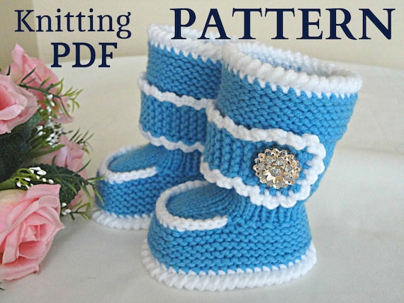 Knitting PATTERN Baby Booties Baby Shoes Knitted by Solnishko43