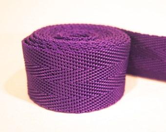 3 yards of 1 inch / 25mm purple webbing, strap (WB7)