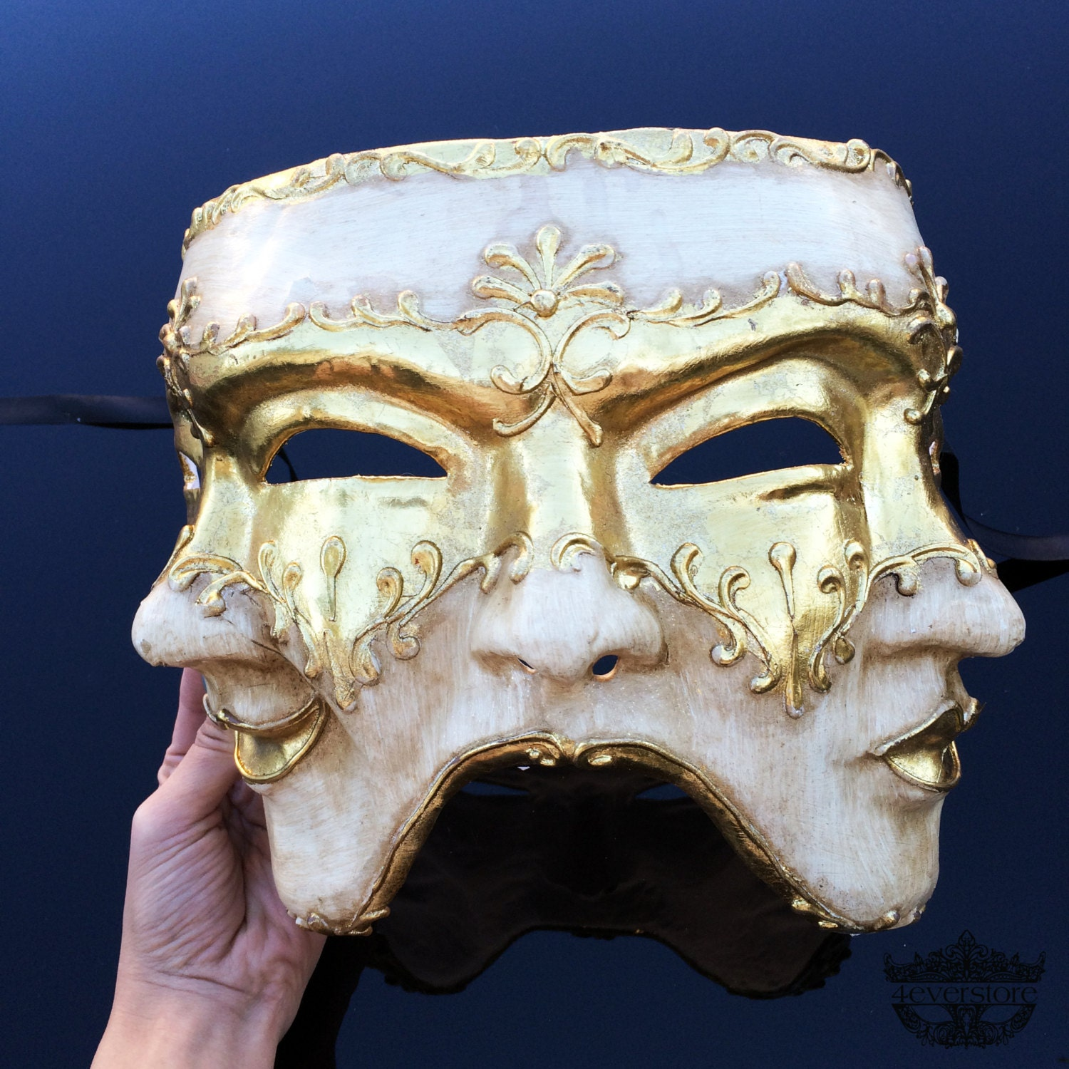 Mens Masquerade Mask Three Face Mask Mardi Gras Mask