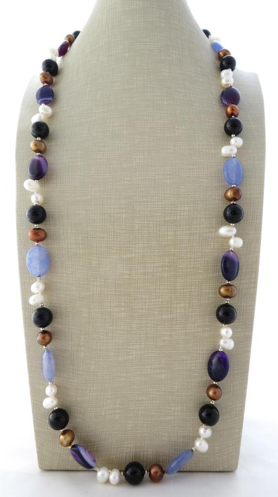 Agate Necklace Multicolor