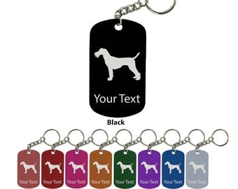 Personalized Engraved Custom Schnuazer 2-inch Colored Anodized Aluminum Key Chain