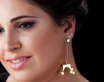 Jerusalem Earrings -  Jerusalem Jewelry - Jerusalem Gold Earrings - Jerusalem Gold Jewelry