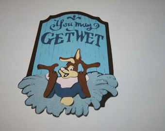 Disney - Splash Mountain - You May Get Wet - Die Cut Paper Piecing Title Signage for Scrapbook Pages