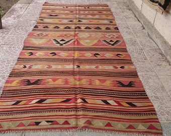 Vintage  TURKİSH KİLİM   RUG  126x52