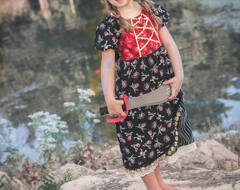 Pirate Inspired Dress sizes 3T-10