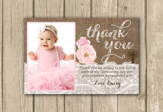 christening thank you card baptism thank you cards birthday – Thank You Cards Birthday Wording