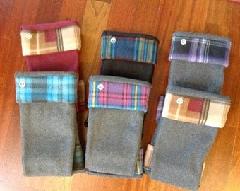Solid Bottom Plaid Cuff Custom Boot Liners Hunter Wellies Socks