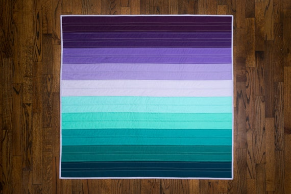 Custom Ombre Baby Quilt Baby Bedding - Any Color!