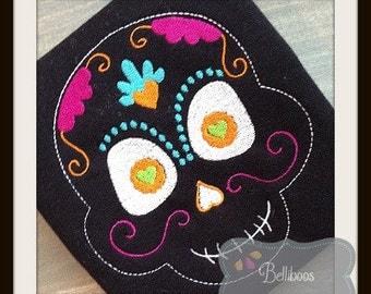Sugar Skull Embroidery Design - Halloween Embroidery Design - Embroidery Design - Skull Embroidery Design