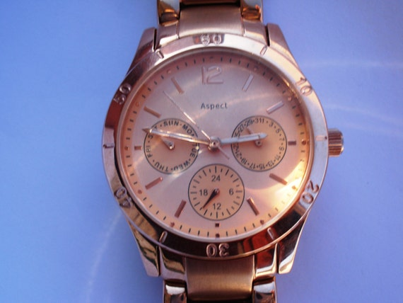 Vintage ASPECT Men's quartz Watch/ Wrist Battery Watch/