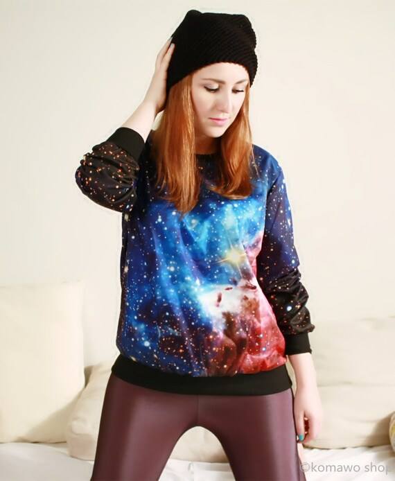 BASIC GALAXY SWEATSHIRT Unisex Sweatshirt/ Galaxy Cosmos All Over Print/ Comfortable Loose Fit Top Shirt Space Sweater/Crewneck Pullover dj2