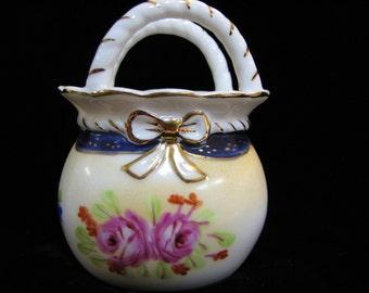 Vintage Porcelain Vanity Jar Bud Vase