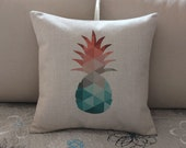 45x45cm Vintage Colorful Geometries Triangle Pineapple Cotton Linen Sofa Decoration Car Decoration Throw Pillow Cushion Cover For Home Decor