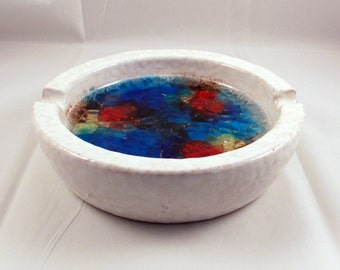 Bitossi Ashtray Italian Pottery Fused Glass Raymor Free Shipping USA