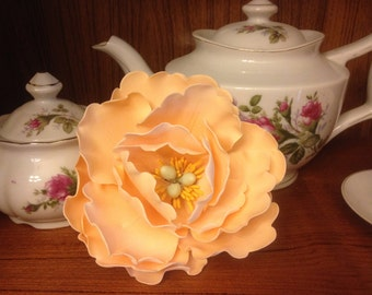 Gorgeous Open Peony  Large~ Gum Paste flowers ~ Sugar Flowers ~ Edible cake topper