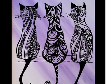 The Cat's Meow Acrylic on Canvas Painting