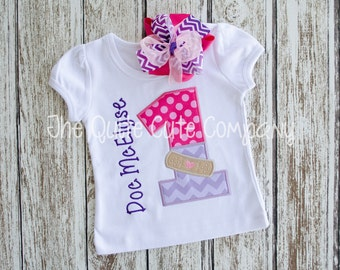 Applique Doctor Birthday Shirt- Personalized with name and number