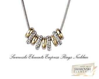 Swarovski elements crystal Empress Ring necklace Rhodium plated to last long and keep shinny.