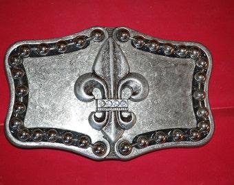 Fleur de lis Vintage Belt Buckle