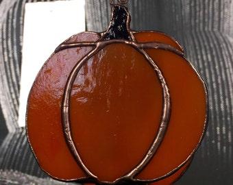 Pumpkin Stained Glass Nightlight