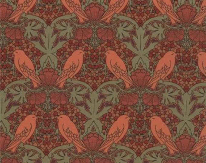 Morris Modernized - Birds Berries Peach