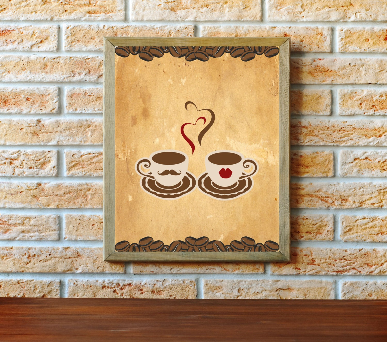 Retro Kitchen Wall Decor: Coffee Print Coffee Poster Kitchen Wall Decor Kitchen Retro
