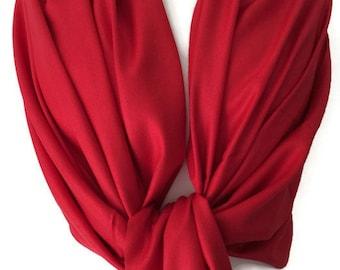Red Pashmina , Ladies Wrap Shawl , Large Scarf , Fair Trade Handwoven, Bridesmaids Wrap