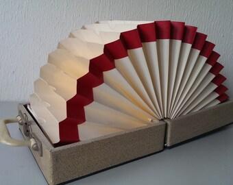 Vintage Wooden Vinyl Records Storage Case For 7 Inch
