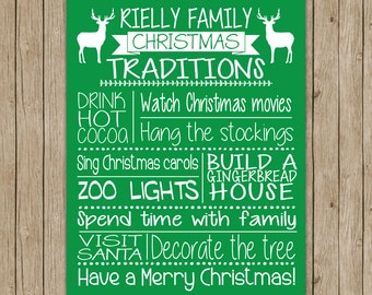Personalized Family Christmas Tradition Print