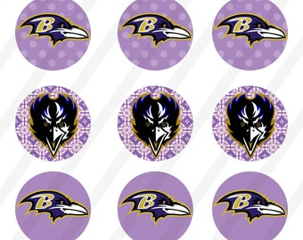 INSTANT DOWNLOAD Baltimore Ravens  Bottle Cap Images Digital Collage Sheet for bottlecaps