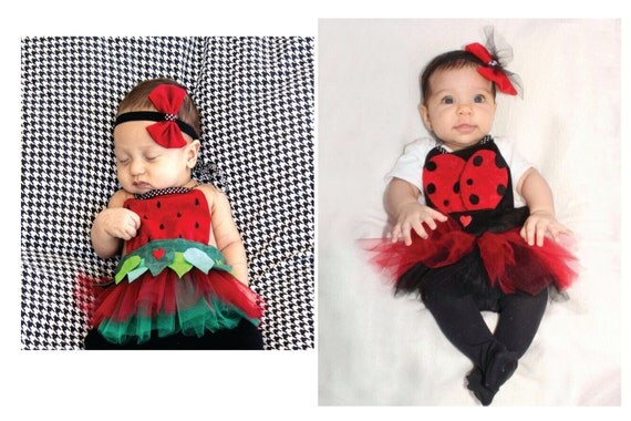 Items similar to HALLOWEEN Baby Costume Cute Ladybug or Strawberry Apron  Baby girl Newborn to 3 month old on Etsy - Items Similar To HALLOWEEN Baby Costume Cute Ladybug Or Strawberry