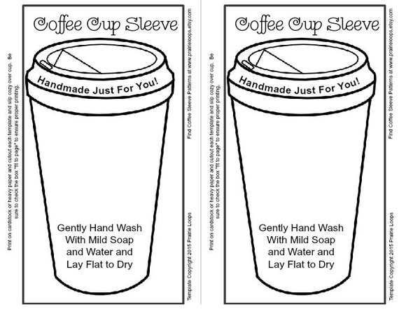 Coffee Cup Printable Template Crochet pattern free template included ...