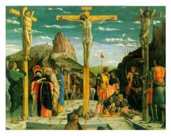 "Calvary, The Crufixion, 1456, Andrea Mantegne, Cross, Jesus, Religion, 8x10"" Cotton Canvas Print"